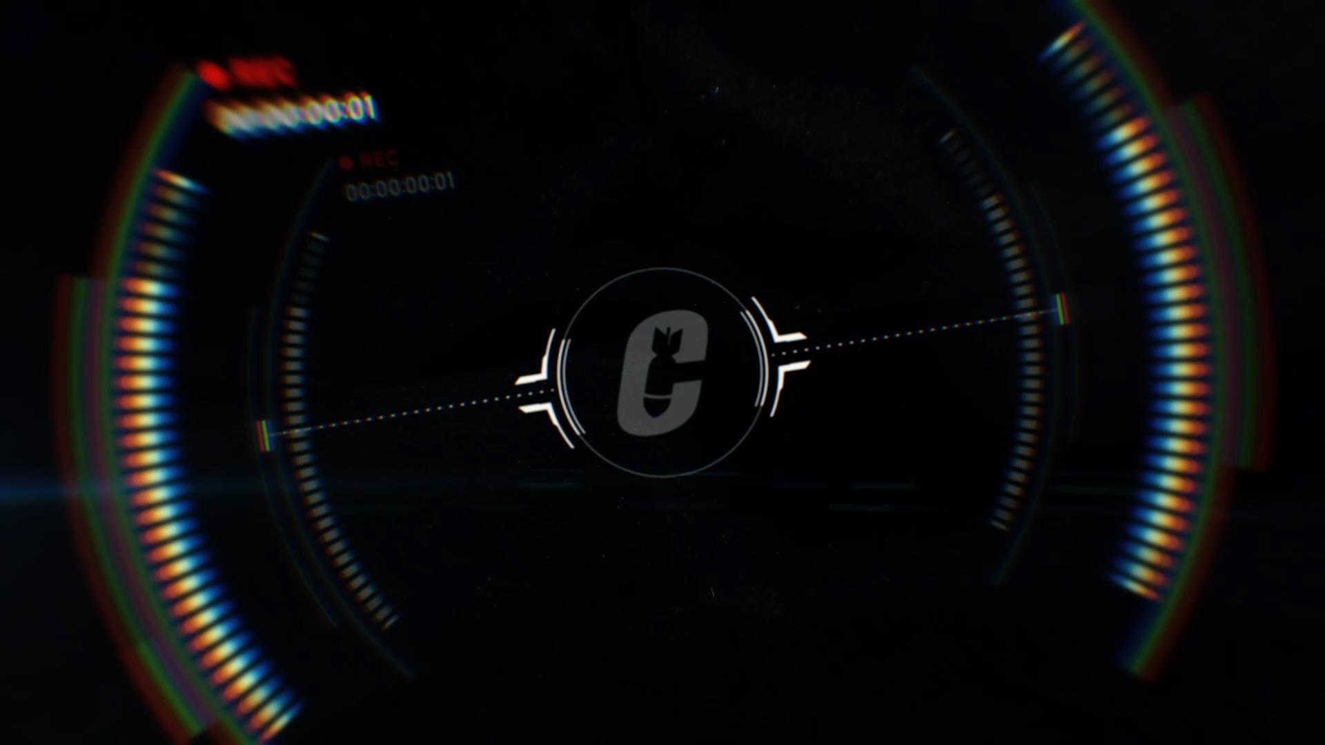 Capsule logo around motion graphics