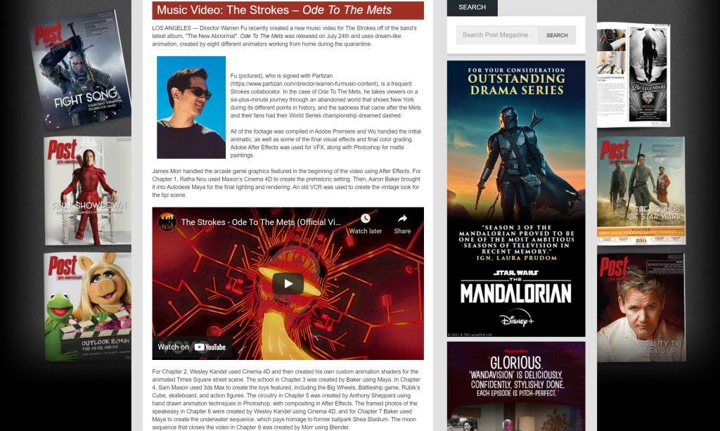 post magazine warren fu ratha nou cinema4d music video animation pandemic