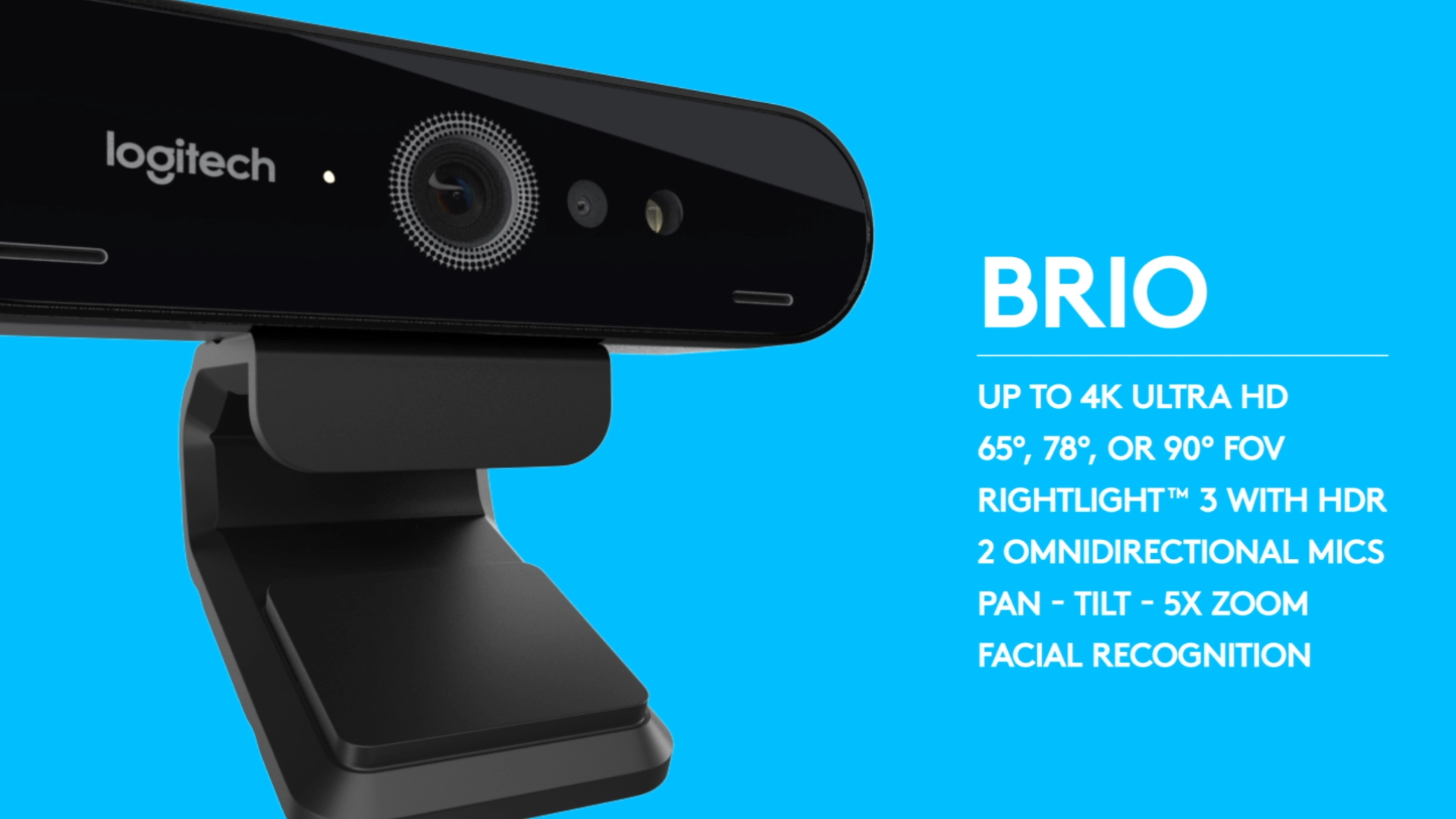 Logitech's webcam Brio explainer